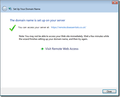 Manually Installing an SSL Certificate on SBS 2011 Essentials