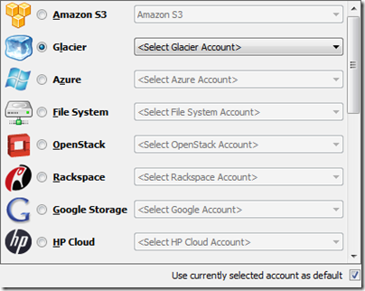 CloudBerry Backup - Amazon Glacier Account Setup