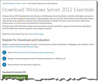 Download WS2012 Essentials Evaluation