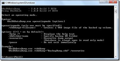 WhsDbDataDump v2.0.0.7 BETA