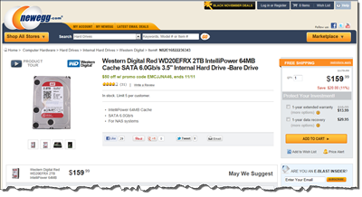 WD Red 2TB Offer on Newegg