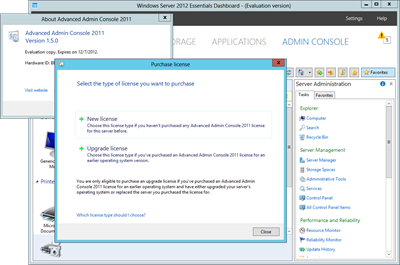 Advanced Admin Console 2011 for WS2012e