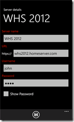 AWIECO WakeOnLAN Pro for WP8 Server Details Tab