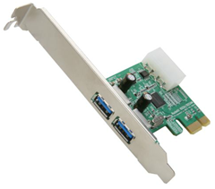 HighPoint RocketU 1022A PCI-Express 2.0 x1 Low Profile USB 3.0 Controller Card