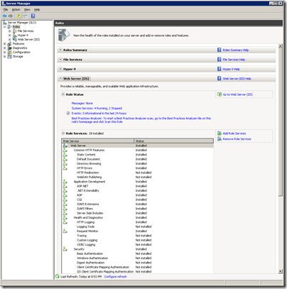 Figure 12 - Server 2008-2012 and WHS Role Manager