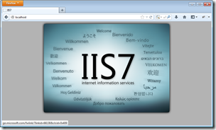 Figure 13 - successful connection to IIS on LocalHost