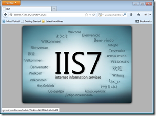 Figure 17 - successful connection to IIS via the internet
