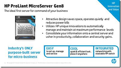 Gen8 MicroServer Slide