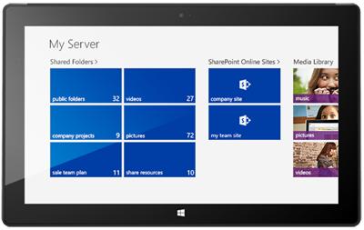My Server 2012 R2 Windows App