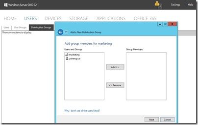 Manage More than One User Simultaneously in WS2012 R2 Essentials