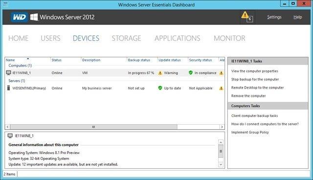 DS6100 Client backup