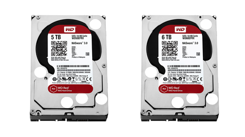 WD Red NAS 5TB and 6TB