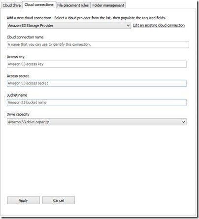 Cloud Xtender Cloud Connections Tab