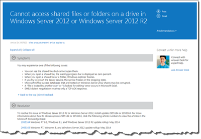Cannot access shared files or folders on a drive in Windows Server 2012 or Windows Server 2012 R2
