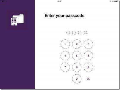 iPad Word Folders Passcode