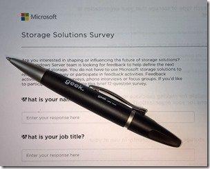 Microsoft Storage Solutions Survey