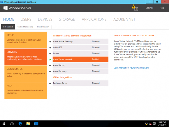 Integrating WS Essentials Tech Preview 3 with Azure Virtual Networks