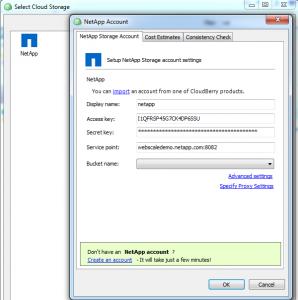CloudBerry Backup NetApp Storage