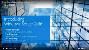 Introducing Windows Server 2016 Webcast