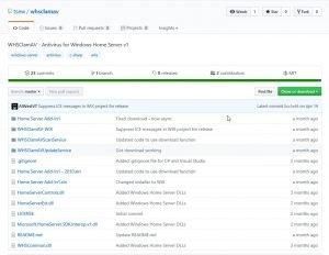 WHSClamAV on GitHub